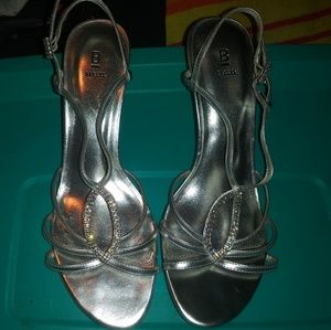 Bakers silver high heels size 9